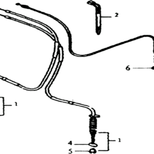 CABLES FREINS AVANT / CABLE ACCELERATEUR