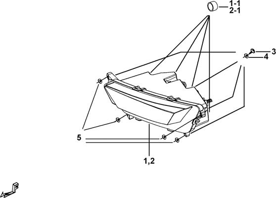 ECLAIRAGE AVANT ( MODELE AVEC FACE AVANT A LED )